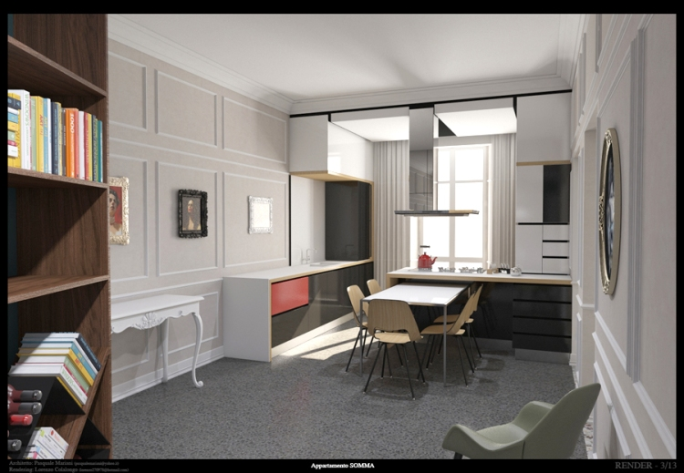 Apartment in Pescara kitchen (first idea)