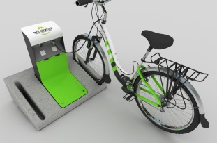 Bike Parking Charge Station render 2