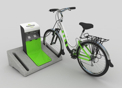 Bike Parking Charge Station render 1