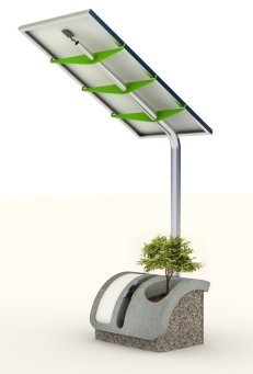 ... also the tree works with solar energy ;)